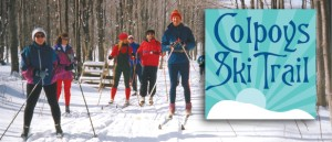Bruce Ski Club - Colpoys Cross-Country Ski Trails Header and Logo - Group of Skiers