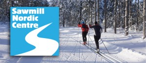 Bruce Ski Club - Sawmill Nordic Centre, Hepworth, Ontario - Header and Logo - Cross-Country Skiers