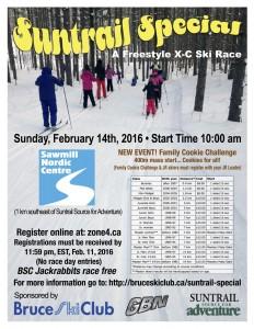 2016 Suntrail Special Bruce Ski Club