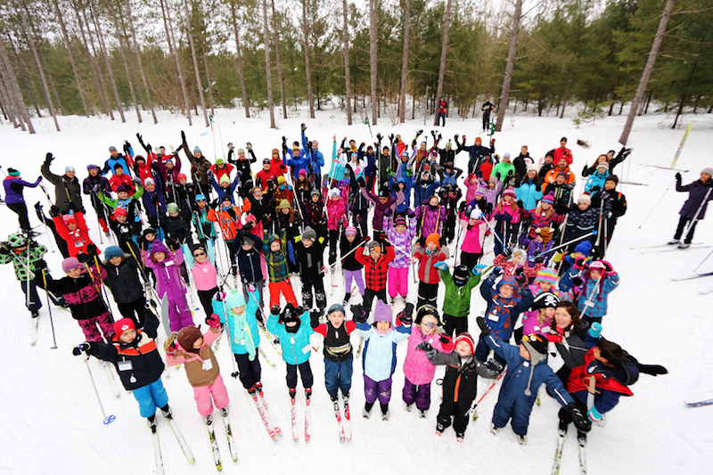 Bruce Ski Club - Jackrabbit Cross-Country Ski Program for Children - Group Photo