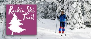 Bruce Ski Club - Rankin Cross-Country Ski Trails Header and Logo - Skier