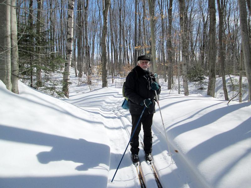 Skier at Rankin Ski Trail at Red Bay, Ontario