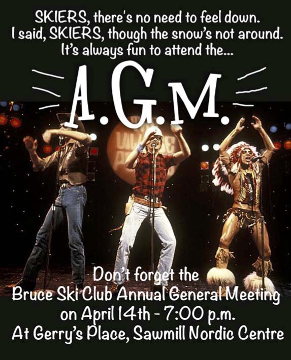 Bruce Ski Club Annual General Meeting 2016 dancers ad
