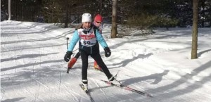 Jackrabbit program - two children cross-country skiing