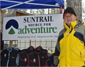 Suntrail Source for Adventure, Hepworth, Ontario, outdoor clothing display