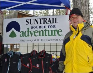 Suntrail Source for Adventure, Hepworth, Ontario, outdoor clothing display