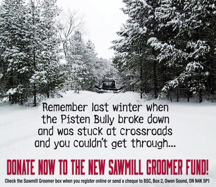 Bruce Ski Club - Pisten Bully Donation Ad 2016