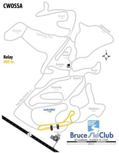 CWOSSA Cross-Country Ski Race, Hepworth, ON - Map: Relays