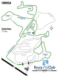 CWOSSA Cross-Country Ski Race Map - Senior Boys