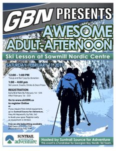 Georgian Bay Nordic - Awesome Adult Afternoon Ski Lesson Flyer