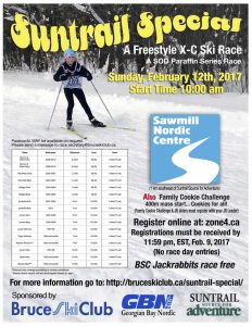 2017 Suntrail Special Cross-Country Ski Race Poster