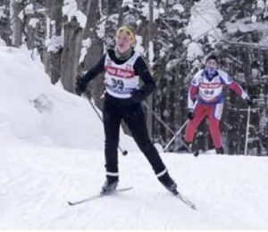 Skiers in Cross-Country Ski Race