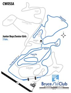 CWOSSA Cross-Country Ski Race Map – Junior Boys / Senior Girls