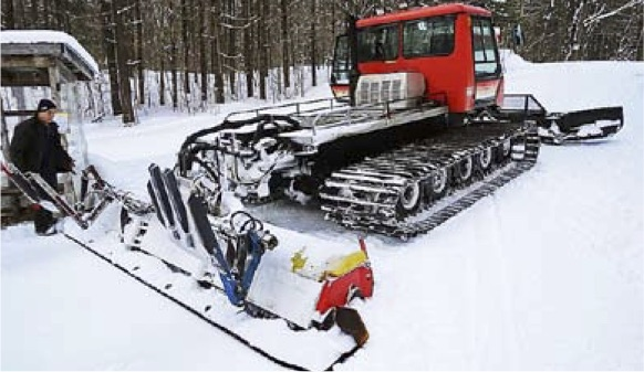 Sawmill Nordic Centre - Groomer on Trail