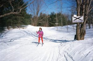 Sawmill Nordic Centre - Skier at Crossroads