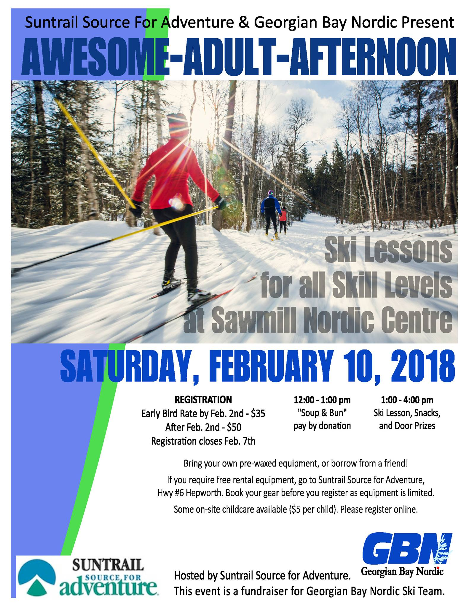 Awesome Adult Afternoon Ski Lesson 2018 poster