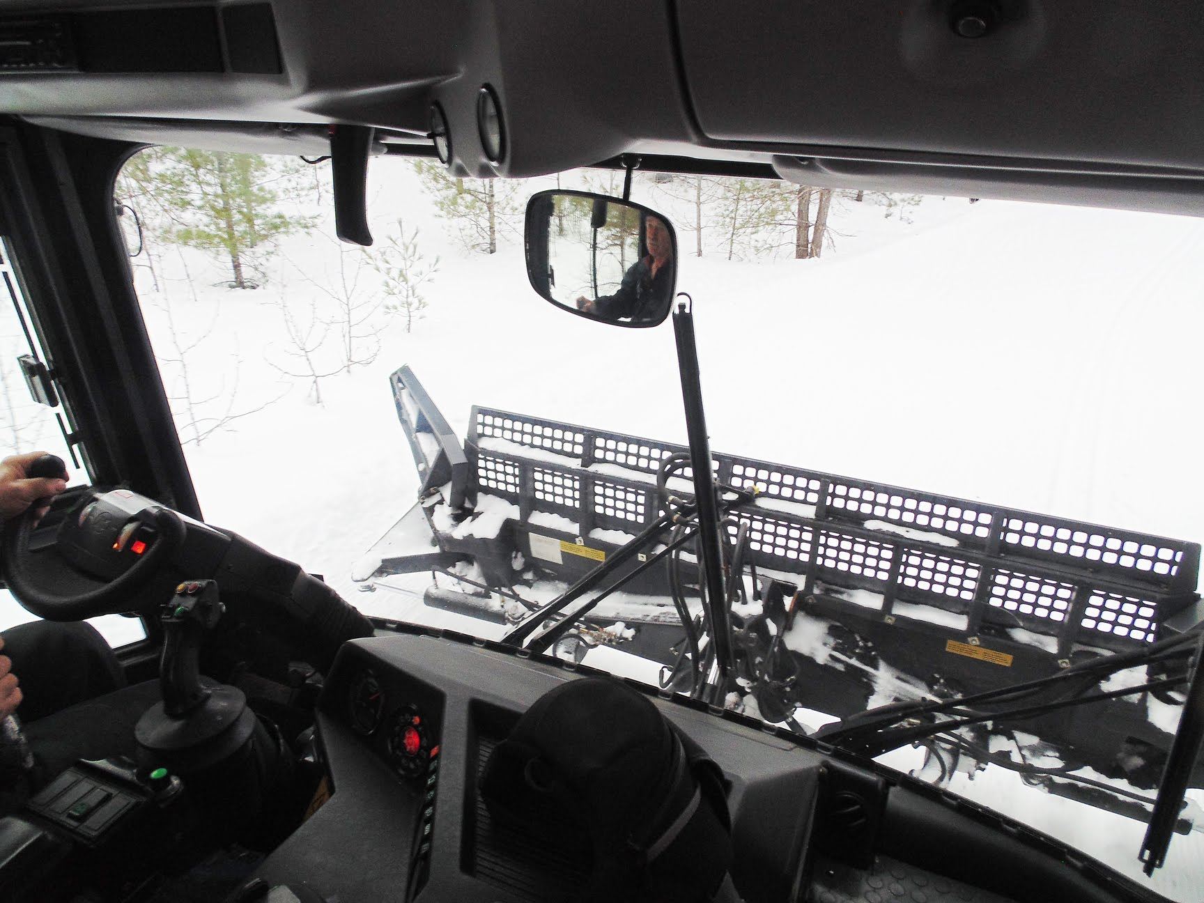 Cab of PistenBully Groomer