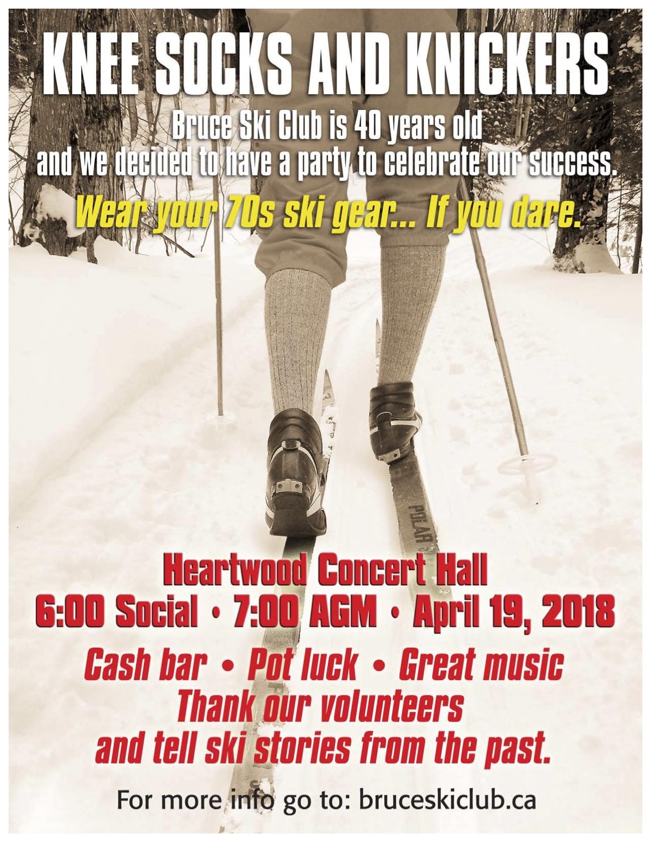 Bruce Ski Club - Annual General Meeting 2018 poster