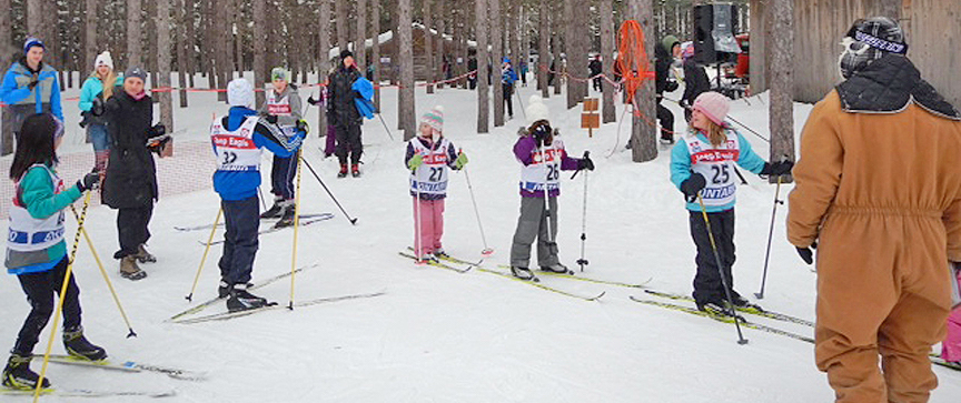Jackrabbits Skiers at Sawmill Nordic Centre in Hepworth, Ontario
