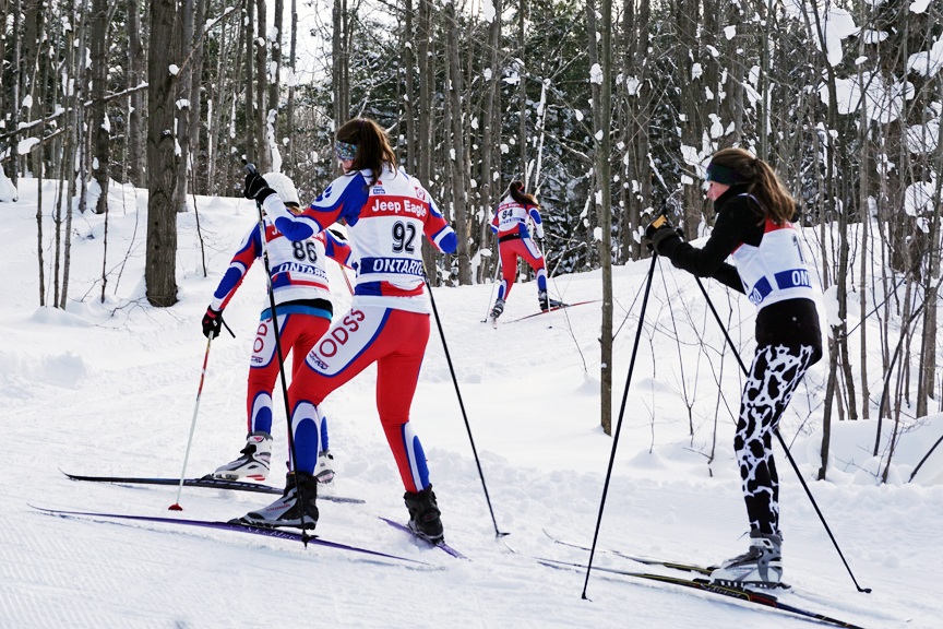 High school students in a cross-country ski race - Sawmill Nordic Centre, Hepworth, Ontario