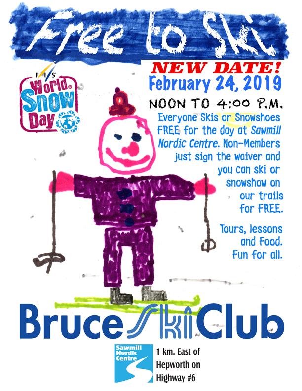 Bruce Ski Club - Free to Ski poster - February 2019