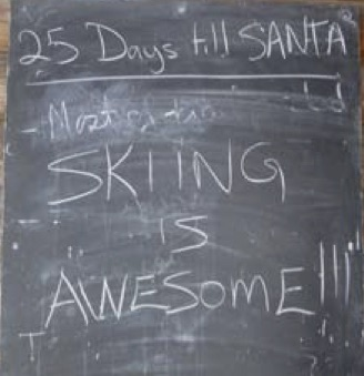 Sawmill Nordic Centre - Chalkboard for Ski Trail Updates