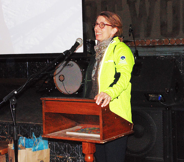 Laura Robison being recognized at Bruce Ski Club's 2019 Annual General Meeting