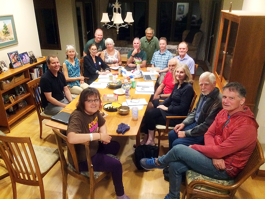 Bruce Ski Club executive meeting in September 2019