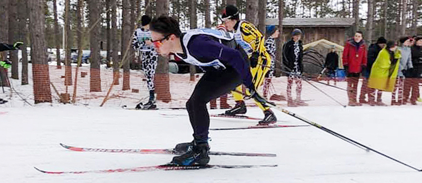 High school cross-country ski racer