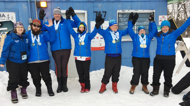 Special Olympics cross-country skiers