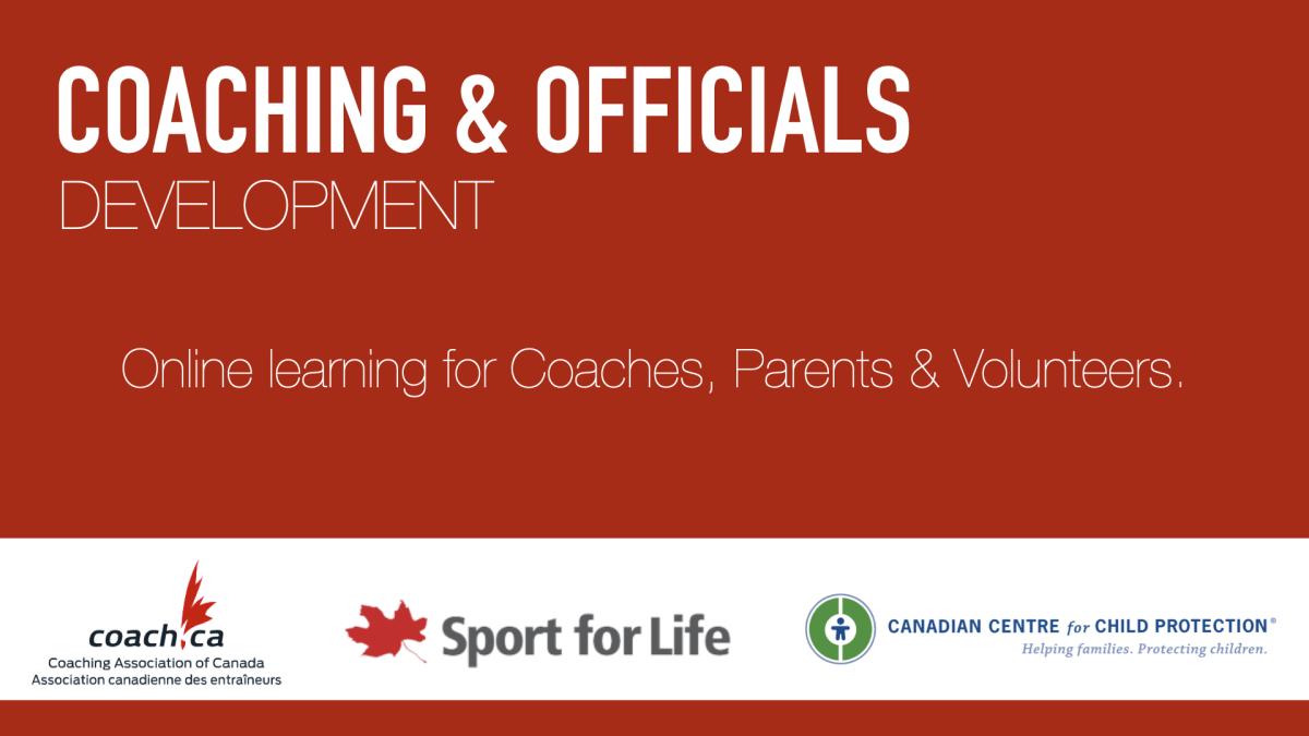 Coaching and Officials Development header