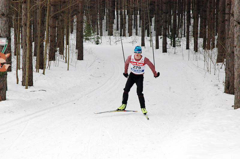 Great Wolf Invitational Cross-Country Ski Race 2017 - solo skier