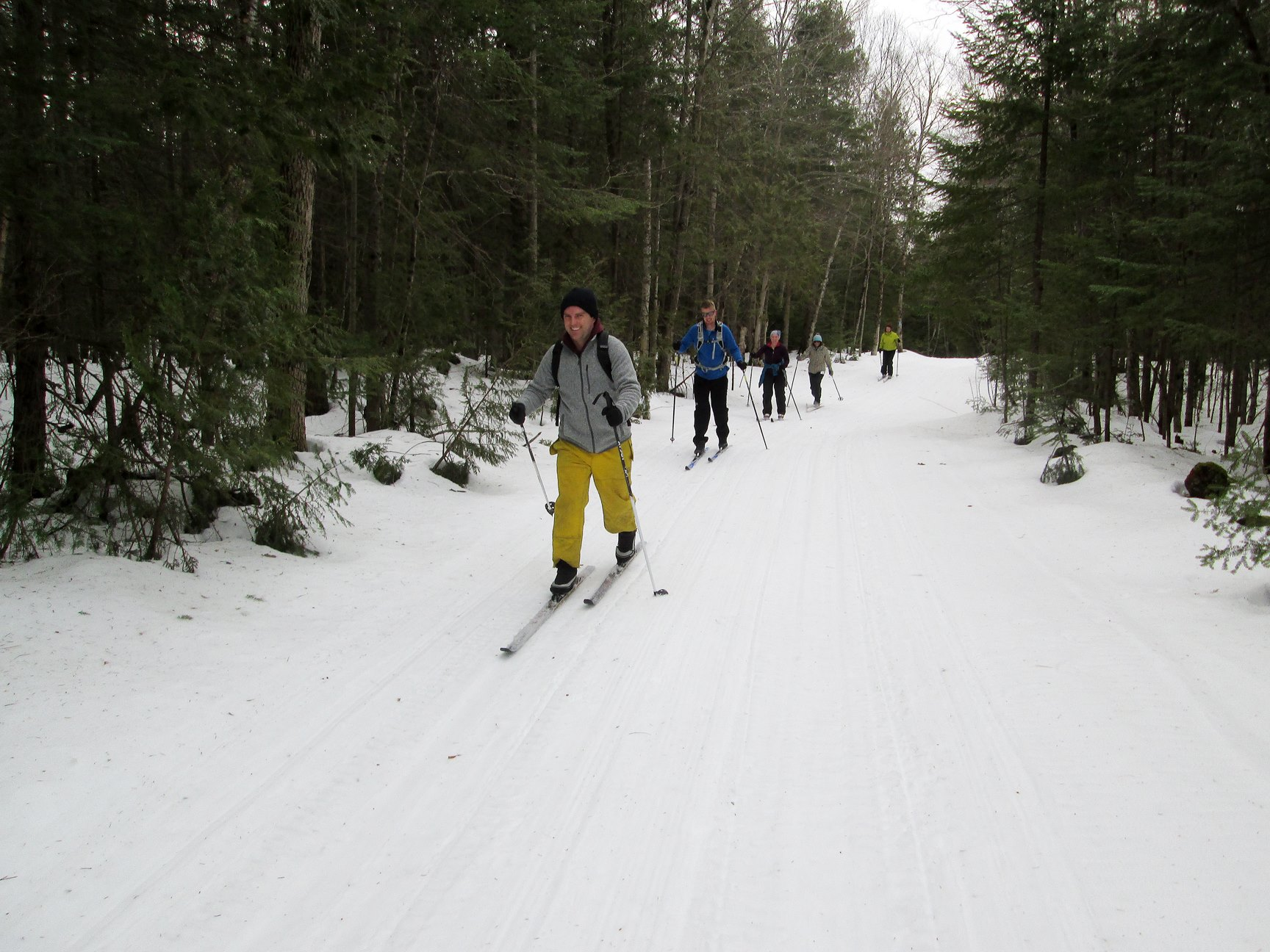 Colpoy's Bay - Line of Skiers