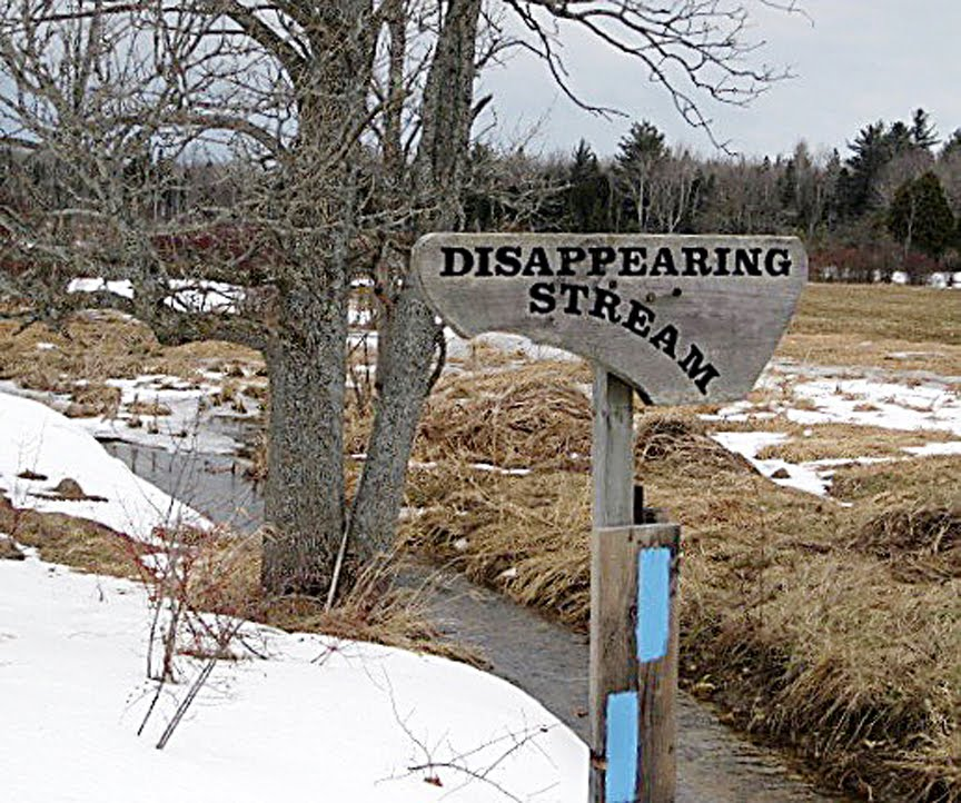 Disappearing Stream Sign at Colpoy's Bay