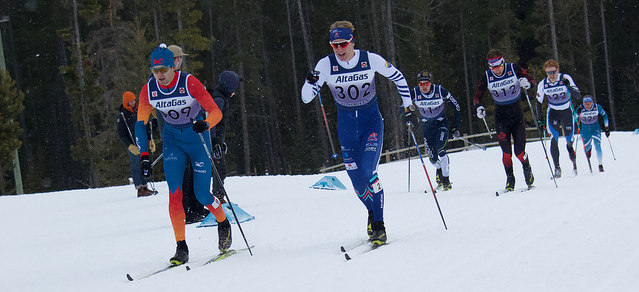 Julian Smith - cross-country ski race with other skiers