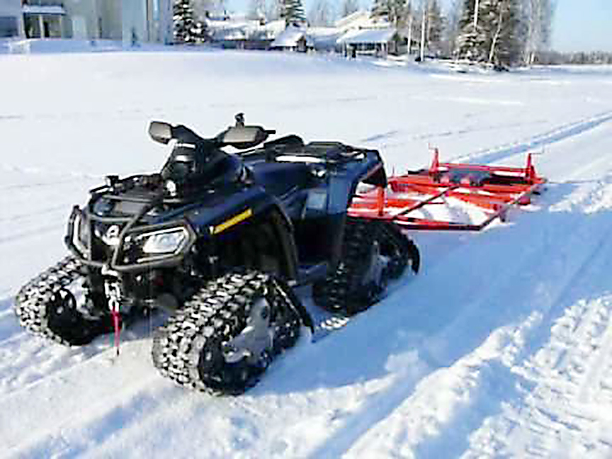 quad track ski trail groomer